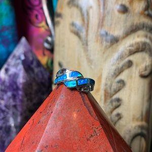 🌹NWT Sterling silver/zuni opal in Aztec setting